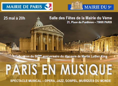 Affiche concert 25 mai 2013 Paris